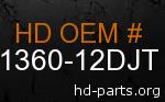 hd 61360-12DJT genuine part number