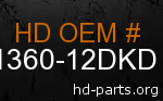 hd 61360-12DKD genuine part number
