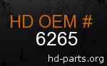 hd 6265 genuine part number