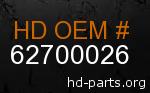 hd 62700026 genuine part number