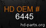hd 6445 genuine part number