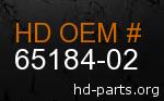 hd 65184-02 genuine part number