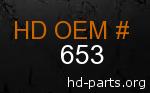 hd 653 genuine part number