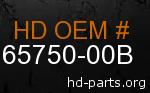 hd 65750-00B genuine part number