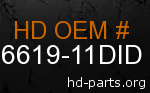 hd 66619-11DID genuine part number