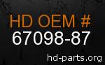 hd 67098-87 genuine part number