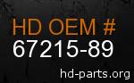 hd 67215-89 genuine part number