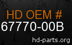 hd 67770-00B genuine part number