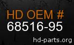 hd 68516-95 genuine part number