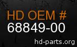 hd 68849-00 genuine part number