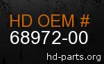 hd 68972-00 genuine part number