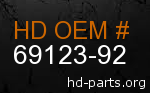 hd 69123-92 genuine part number
