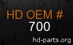 hd 700 genuine part number