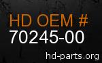 hd 70245-00 genuine part number
