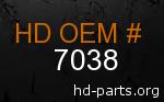 hd 7038 genuine part number