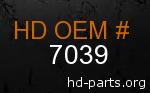 hd 7039 genuine part number