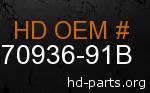 hd 70936-91B genuine part number
