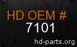 hd 7101 genuine part number
