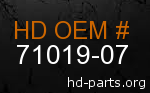hd 71019-07 genuine part number
