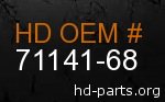 hd 71141-68 genuine part number