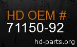 hd 71150-92 genuine part number