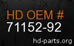 hd 71152-92 genuine part number