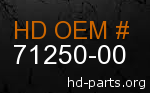 hd 71250-00 genuine part number