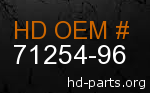 hd 71254-96 genuine part number