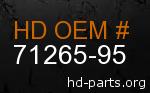 hd 71265-95 genuine part number
