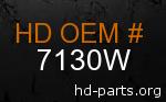 hd 7130W genuine part number