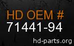 hd 71441-94 genuine part number