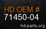 hd 71450-04 genuine part number