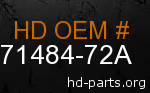 hd 71484-72A genuine part number