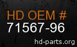 hd 71567-96 genuine part number