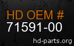 hd 71591-00 genuine part number