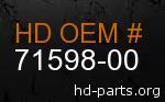 hd 71598-00 genuine part number