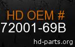 hd 72001-69B genuine part number