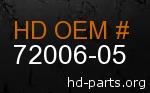 hd 72006-05 genuine part number