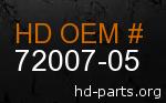 hd 72007-05 genuine part number
