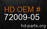 hd 72009-05 genuine part number