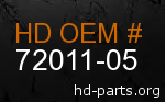 hd 72011-05 genuine part number