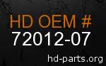 hd 72012-07 genuine part number