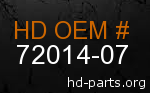 hd 72014-07 genuine part number