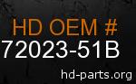 hd 72023-51B genuine part number