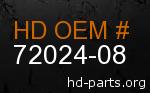 hd 72024-08 genuine part number