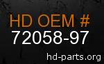 hd 72058-97 genuine part number