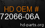 hd 72066-06A genuine part number