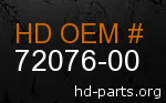 hd 72076-00 genuine part number
