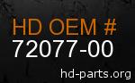 hd 72077-00 genuine part number