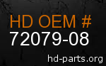 hd 72079-08 genuine part number